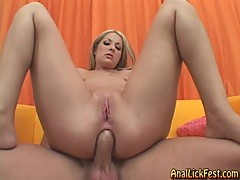 Chelsie Rae bounces her tight asshole on this hard dick