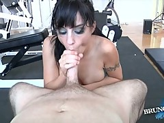 Tart Cherry Potter gobbles down this thick fuck stick