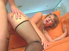 Erotic slut Claire Robbins getting hard fuck by monster cock on the couch