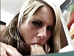 Courtney Simpson catches a cumload straight across her face