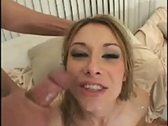 Crystal ray takes two cocks at the same time