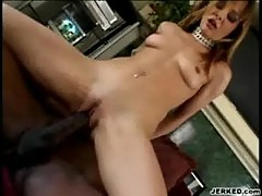 Cytherea fucks a big black cock - white curvy asses