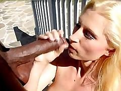 Blonde Devon Lee Goes After The Large Black Cock In Her Pussy