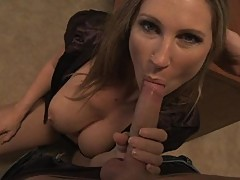 No cock is too big for Devon Lees drooling cock craving mouth