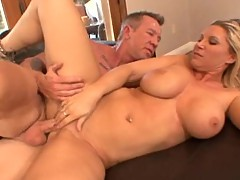 Sexy MILF Devon Lee having her tight muff rammed by large man meat