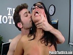 Eva Angelina Rough Sex with Boss - PunishThatBitch.com