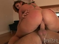 Flower Tucci rides her moist pussy on this hard dick
