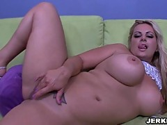Massive titted star Friday does some of her best solo work ever