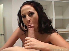 An astonishing blowjob given to immense cock by Gianna Michaels.