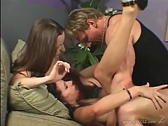Gianna Michaels and Sarah Jade Only Go Lesbian in Threesomes