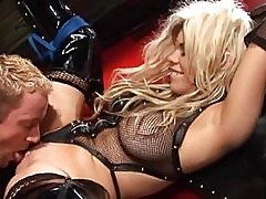 PVC sex slave Gia Paloma gets a good hard fucking and a face...