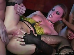 Butt pluged and double stuffed makes Harmony Rose cum buckets