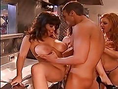 Sleazy servers Charisma CapelliSienna West and Janet Mason s...