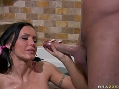 Jenna Presley lusty babe ball off a hard dick