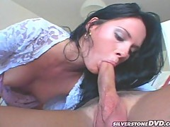 Jennifer Dark pleases her man's cock making it really hard to handle