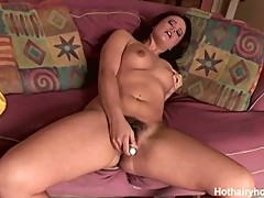 Kaci Starr plays with her muff