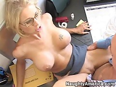 Katie Morgan and her small pussy take on a huge cock