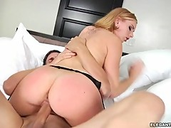 Dazzling Lexi Belle rides her moist slot on a huge dick
