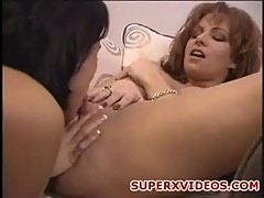 Kylie ireland and lezley zen lesbians playing with a dildo