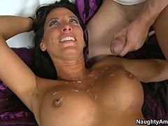 Lezley Zen horny milf like getting splunk on her face