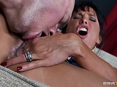 MILF Lezley Zen is licked before a stuffing
