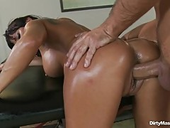 Sexy Lezley Zen is stuffed up her dripping snatch