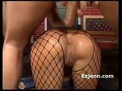 A Is For Anal Liliane Tiger hot fishnet s ...