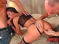 Sexy goddess Lucie Lee loves licking her man's lolly