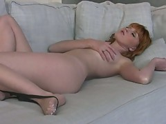 Teasing tart Marie McCray delights in playing with her tight juicy pussy
