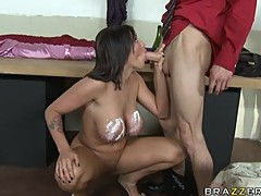 Memphis Monroe delights in stuffing her warm mouth with a big dick