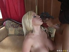 Memphis Monroe enjoys a mouthful of jizz after getting drilled by a cock