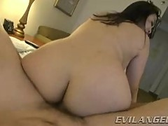 Asian Mika Tan rides her hot pussy on this stiff prick