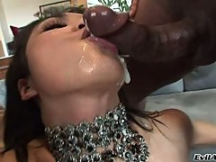Mika Tan like the cum pop inside her throat