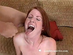 Nikki Rhodes takes it from behind then gets a facial