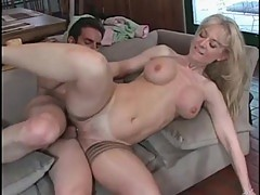 Naughty Nina Hartley gets a minge twinge from this cock