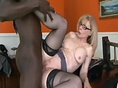 Therapist Watches Milf Nina Hartley Fuck Huge Cock