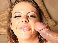 Dirty chick Penny Flame gets hot facial cumshot as reward