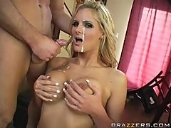 Busty Blonde Phoenix Marie Fucks For a Facial And Free Gorceries