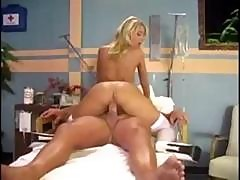 Hot Busty Blonde Sammie Rhodes Plays Nurse And Takes Care Of Patient's Cock