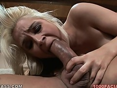 Meat eater Sarah Vandella gobbles down this dick