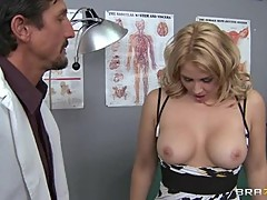 Sexy Sarah Vandella gets her perky tits out