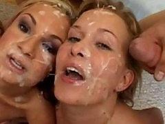 Sasha Knox and Amy are cum covered whores!