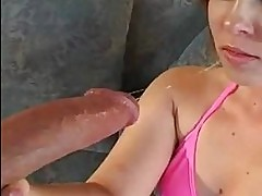 Sasha Knox getting pussy fucked hard from behind with huge c...