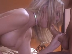 Shawna Lenee shuts the fuck up as she gobbles on the monster before her