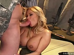 Shyla Stylez giving a hard gam to a hot dude