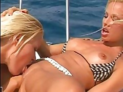 Horny Sophie Moone and Vega Vixen wild fisting sex outdoors