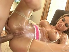 Scorching Teagan Presley gets her asshole pulverized