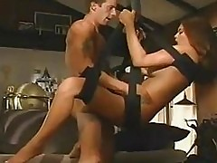 Busty chick Tera Patrick gets her wet pussy pounded hard