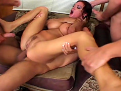 Tory Lane rough gangbang with 5 guys