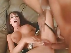 Vanessa Lane gets a hard ass stretching before facial